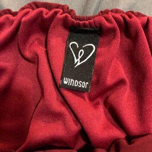 Windsor Tops - maroon crop tube top